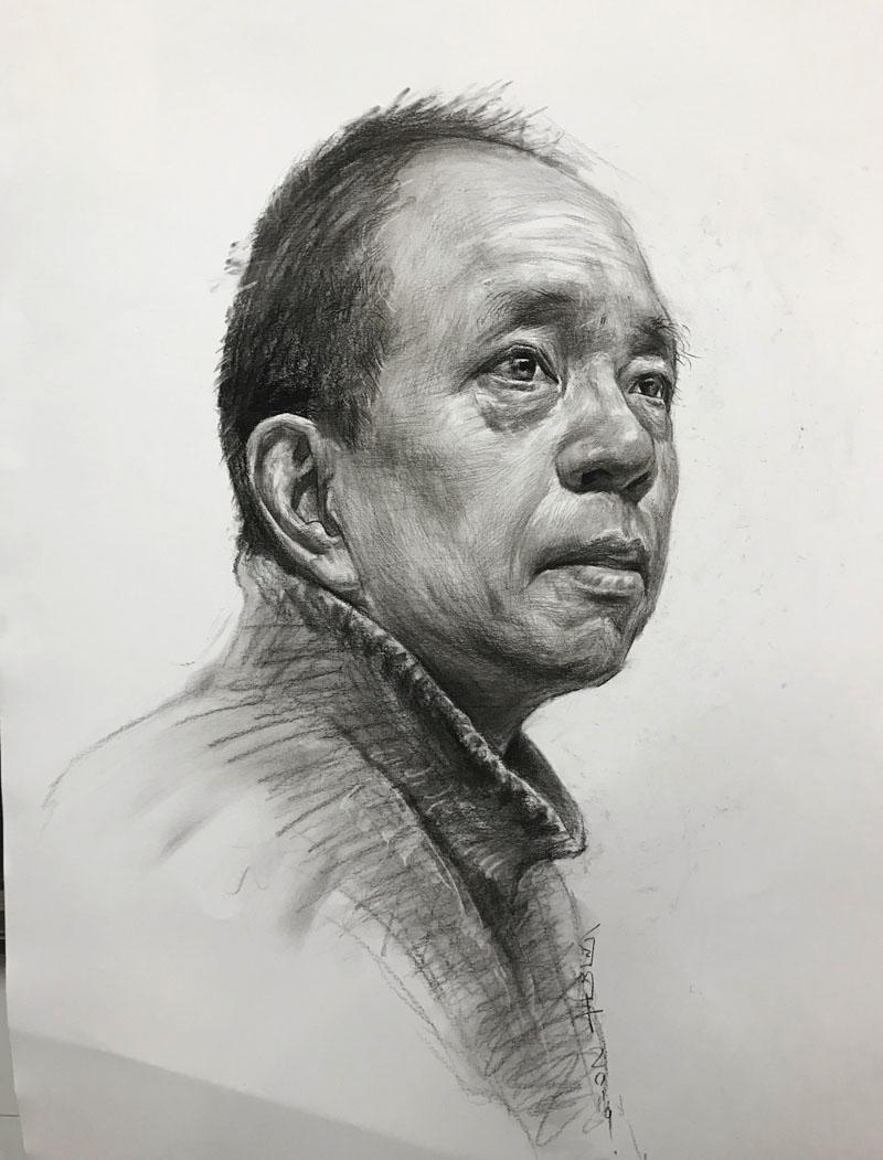兰州大艺画室白丽丰老师素描作品