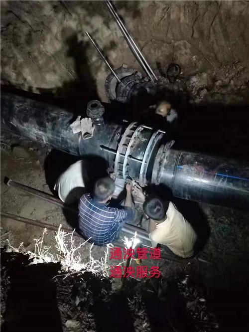 陕西hdpe给水管材630x1.6MPa施工中