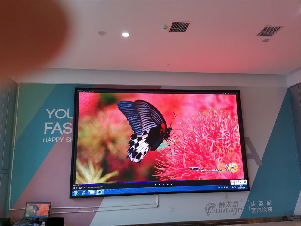 某家居卖场p2.5彩色LED屏