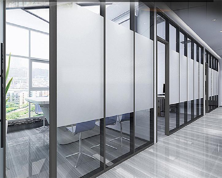 兰州办公室会议室玻璃隔断_隔音 节省空间 透亮