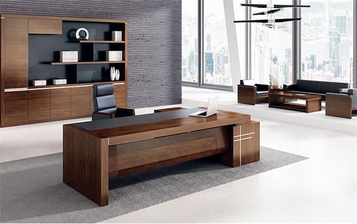 简约风格现代办公家具定制_时尚办公桌大班台定做厂家