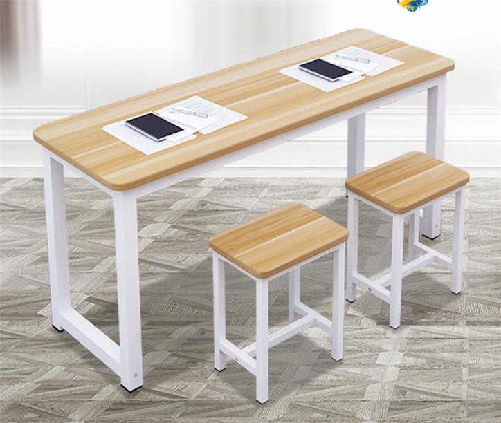 学校培训班课桌椅组合_双人学生桌凳厂家批发