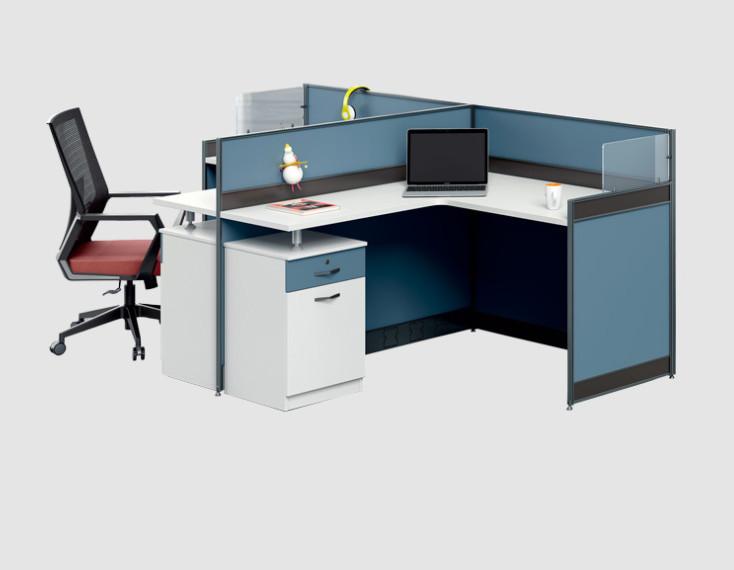 甘肃厂家定制职工屏风办公桌_公司企业电脑办公桌