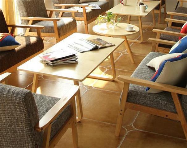 办公室洽谈卡座_奶茶店休闲桌椅组合定制