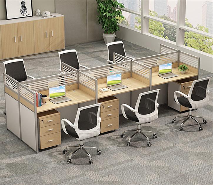 兰州钢木单双人职员办公桌