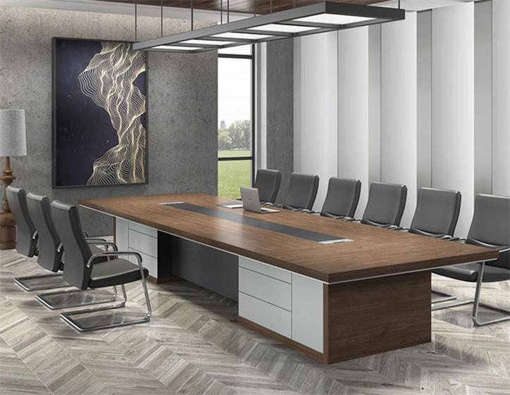 办公大小型长条会议洽谈桌_定制企业会议桌定制