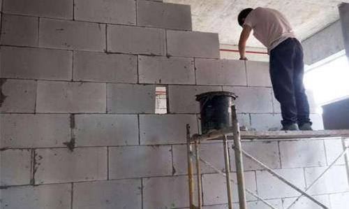 加气砖施工现场