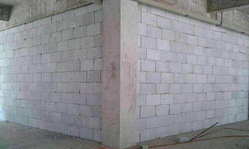 轻质砖隔墙施工现场