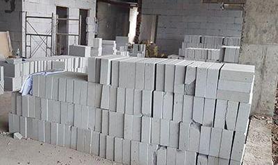 轻质砖施工现场