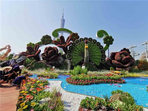 广州立体花坛造型设计合作图片