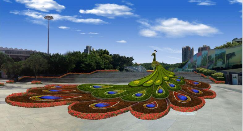 河南立体花坛的制作过程中材料的选择标准