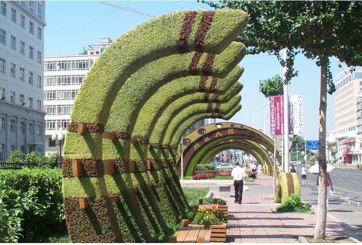 河南五色草造型设计施工
