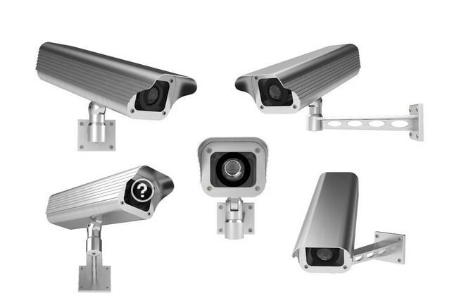 监控摄像头 时时监控 保障社会安全