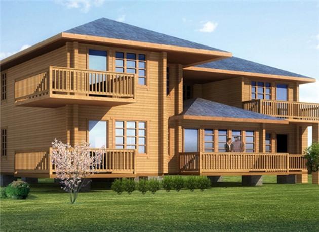休闲生态防腐木木屋