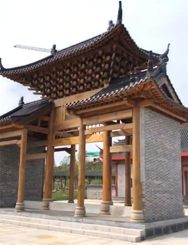 古典风格仿古建筑_木质房屋建造