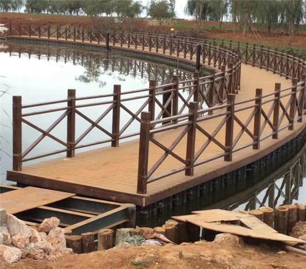 防腐木材质围栏杆