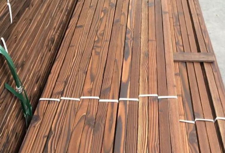 郑州碳化木直销 室内户外装饰可加工定制碳化木