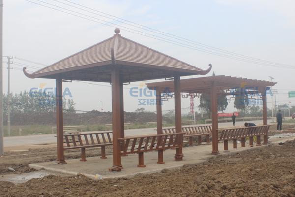 汉川市西江乡北河社区凉亭葡萄架项目