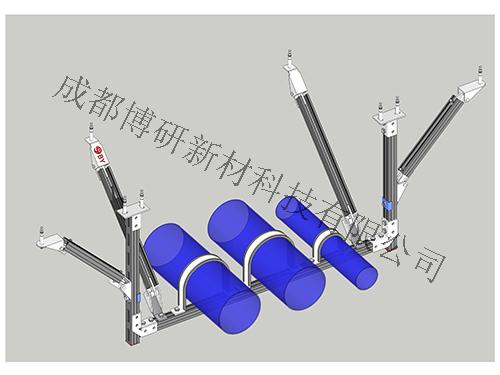 四川水管抗震支架安装-水管门式双向支架