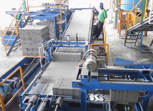 加气砖生产区域