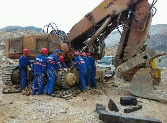 挖掘机回转慢