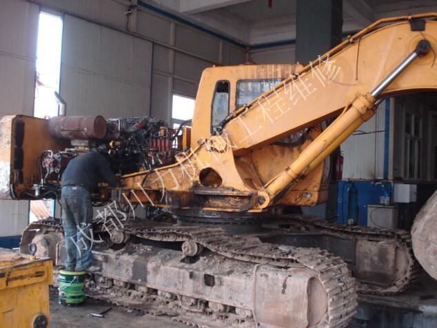 挖掘机回转刹车失灵