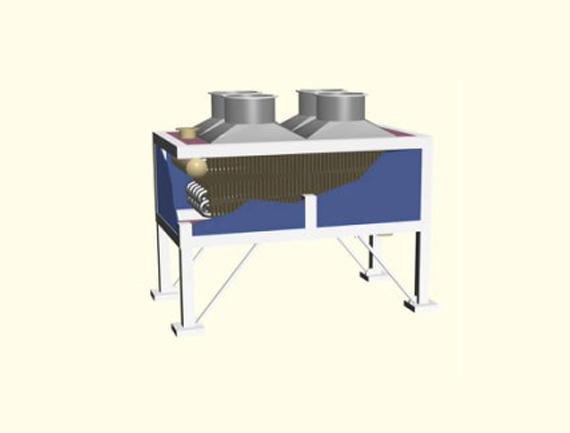 空冷器结构形式引风式