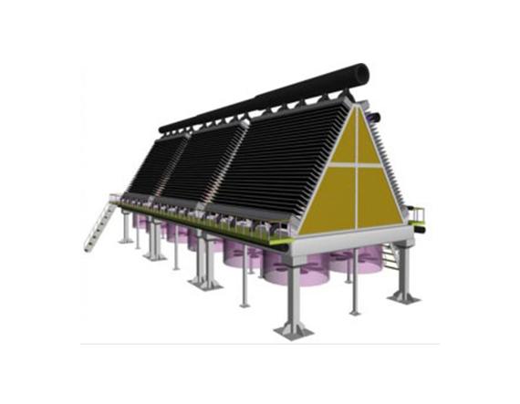 空冷器结构形式斜顶式