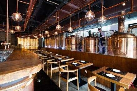 某小酒吧与精酿啤酒设备厂家合作案例