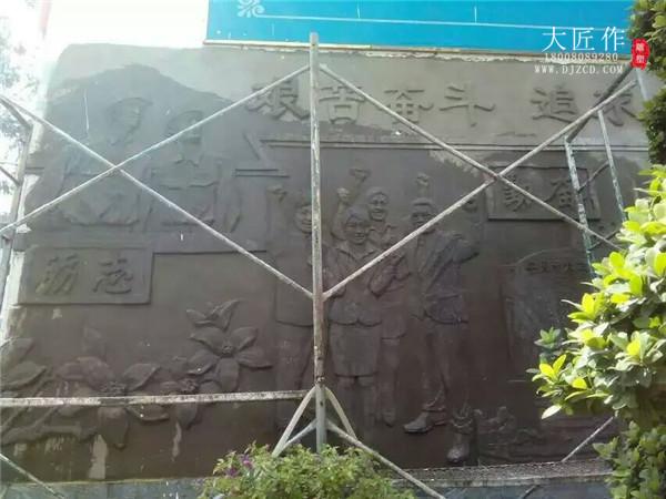 成都铸铜雕塑现场施工