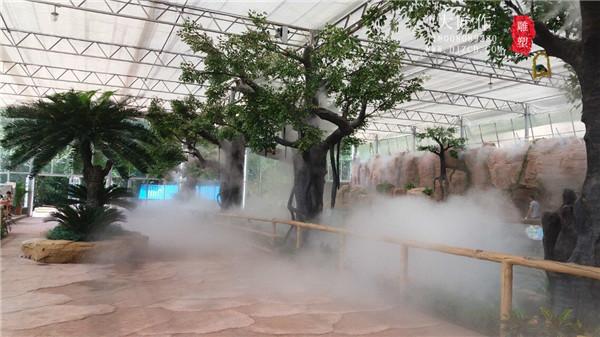 塑石假山——景观造雾