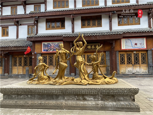松潘铸铜雕塑和墙体彩绘案例展示