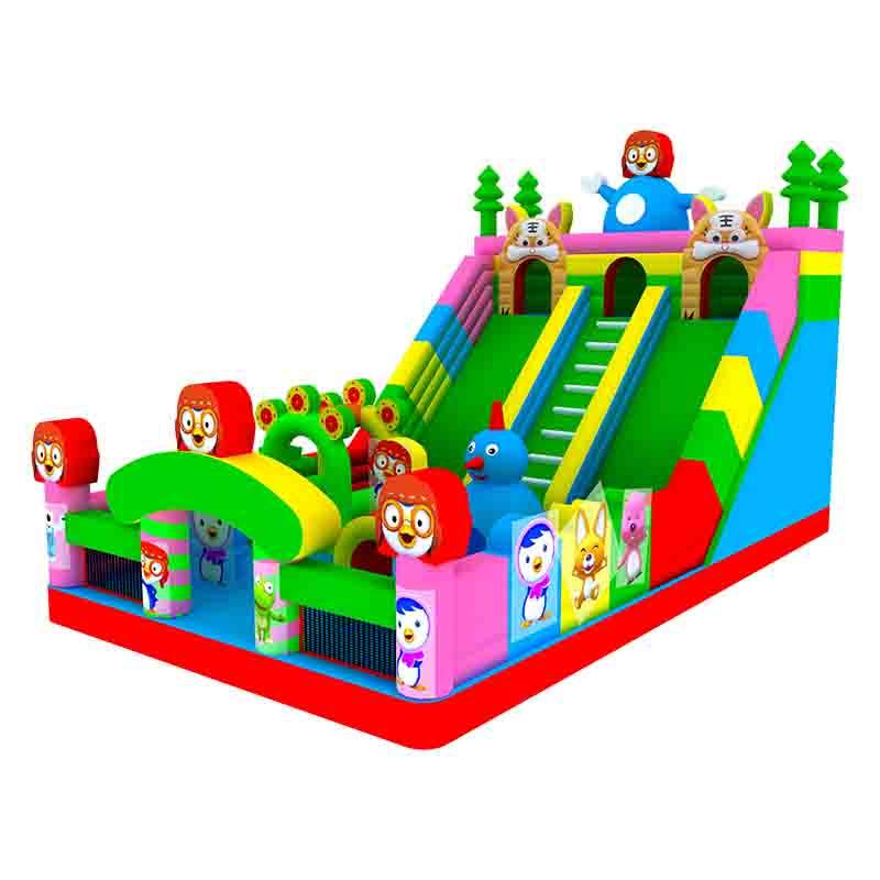 企鹅儿童滑梯充气城堡