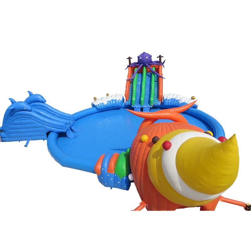 蜗牛充气移动水上乐园