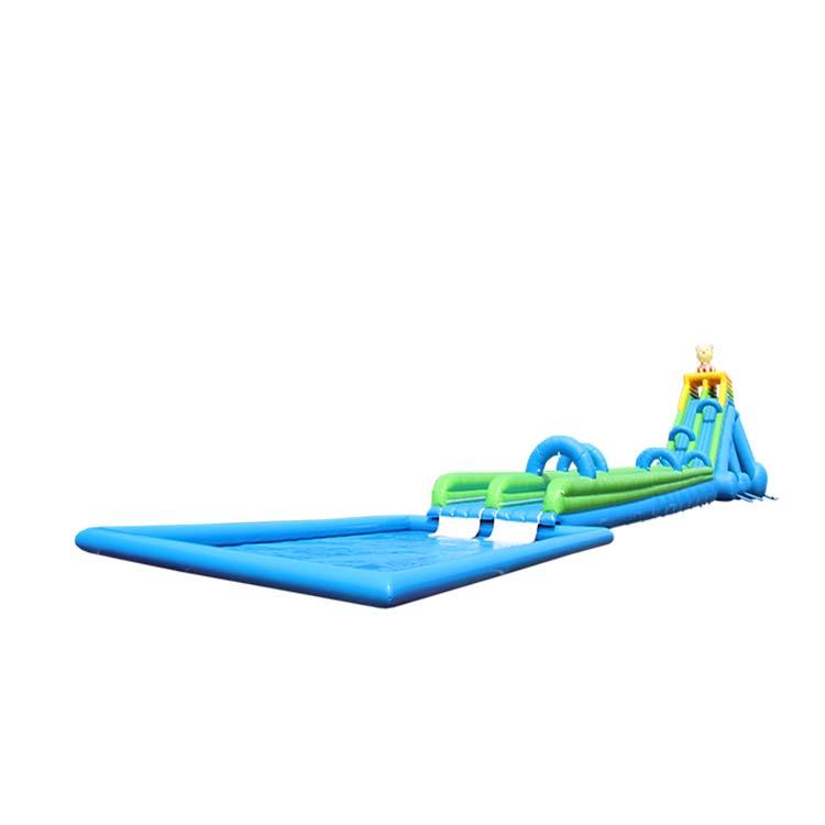 双道水充气滑梯