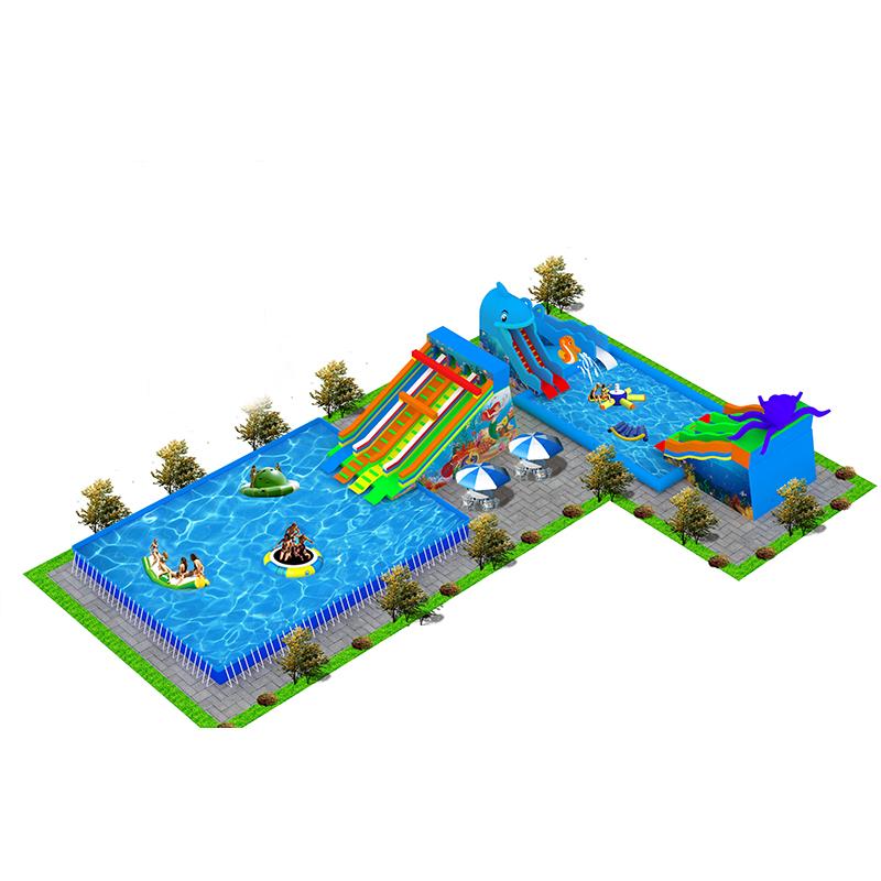户外嬉戏游玩海洋世界移动乐园