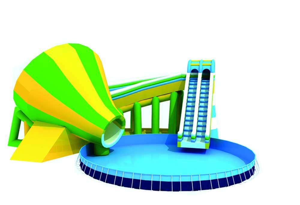 充气滑梯水池移动乐园