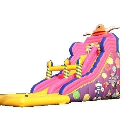 款式多样粉色新款淘气堡充气滑梯