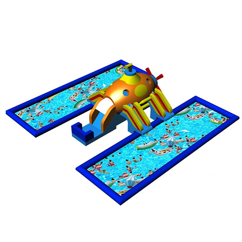厂家定制双水池游泳移动乐园