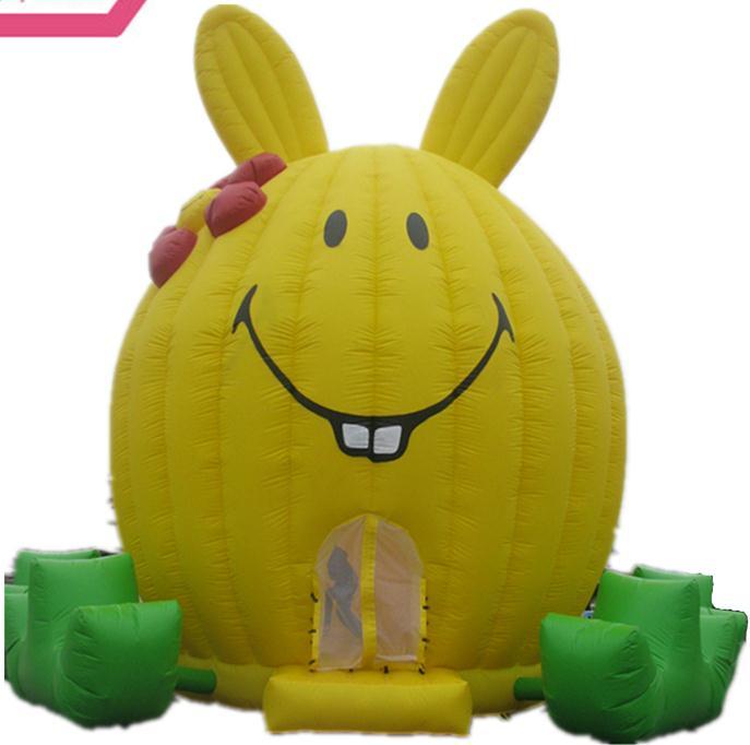 超可爱大黄兔充气跳床