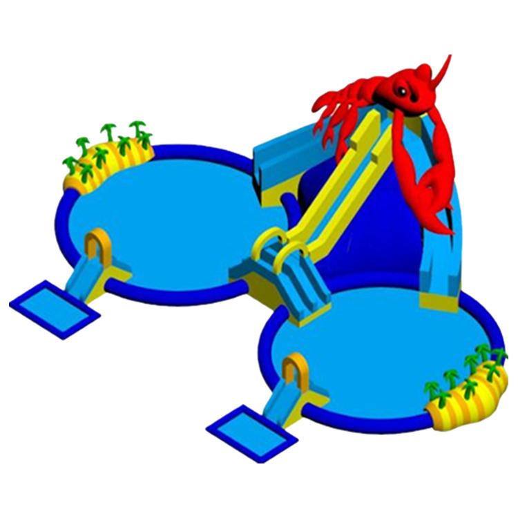 大龙虾双管双水池移动乐园