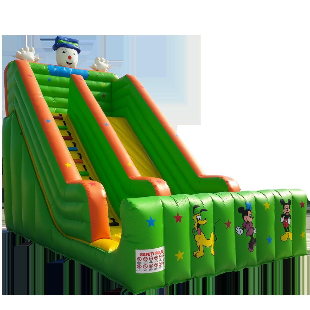 新款儿童游艺设备充气气模卡通图案滑梯