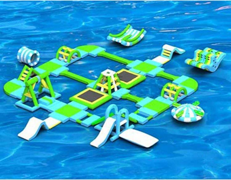 安全环保成人水上冲关闯关移动水上乐园