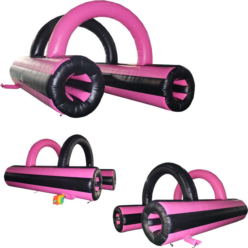 粉红色充气障碍