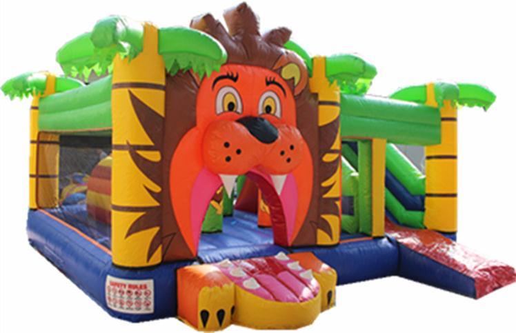 狮子王图案充气跳床