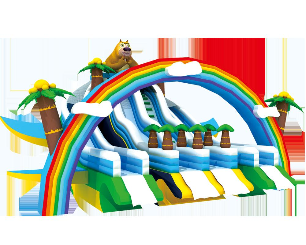 彩虹家园充气滑梯