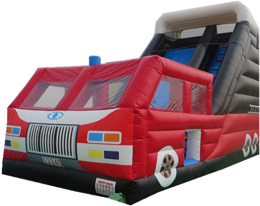 充气气模儿童大卡车组合滑梯