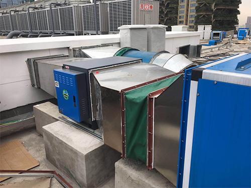 71国际广场商业油烟净化器低空排放安装