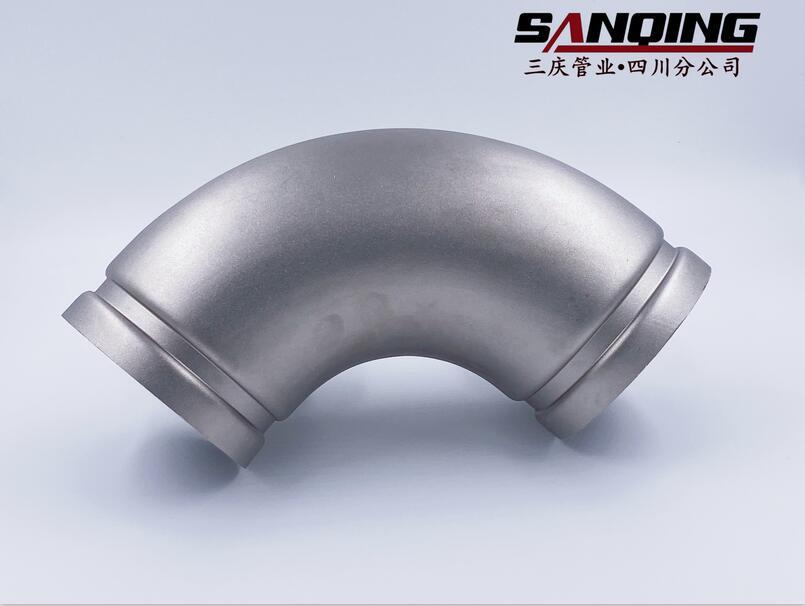 四川不锈钢管件-90°沟槽弯头