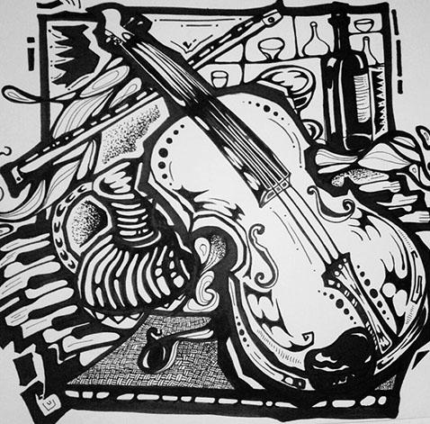 学生设计佳作--吉他的世界